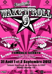 WAKE'N' ROLL 9 se déroulera le 31 Août, 1 et 2 Septembre