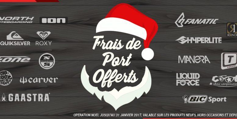 Frais de port offerts jusqu'au 31 janvier 2017