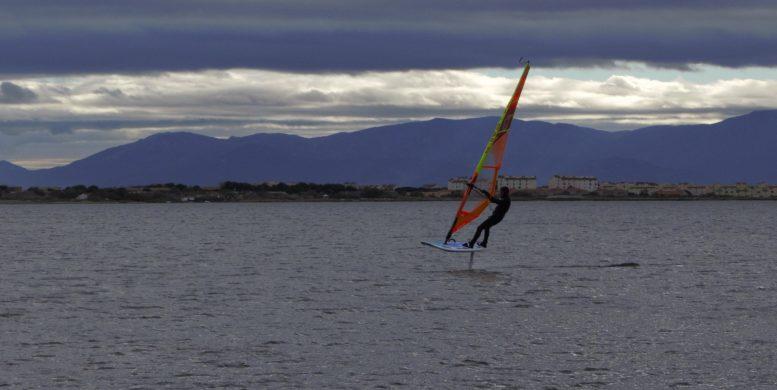 Stéphane full speed avec le WindFoil 2017