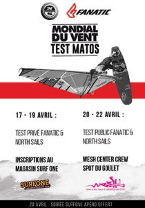 test matos fanatic surfone mondial du vent